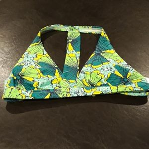 NEW Old Navy Green/Yellow Floral Bikini Top